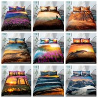 Wholesale 3d bedding set for kids for sale - Group buy Trees Sunset Landscape Bedding Sets Coconuts Ocean D Print Duvet Cover Pillowcases For Adult Kids Bed Set With Pillowcase