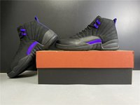 Wholesale retro 12 low resale online - men Dark Concord Dunkelviolette Kang Schnalle Mens Basketball Shoes Retroes Sneakers Mit Originalverpackung CT8013 size