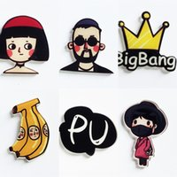 Wholesale lamp crown resale online - Quan Zhilong brooch star bigbang yellow crown lamp Pin special shaped badge couple pin acrylic badge ryR1E