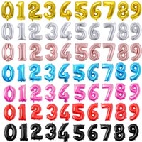 32inch Number Foil Balloons Digit 0-9 balls For wedding Birthday Party Decorations kids Adult Balon Anniversary number Supplies