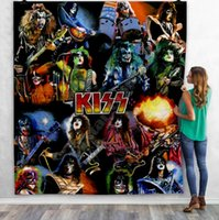 KISS Rock&Roll All Nite Party 3D Quilt Blanket For Kids Adult Bedding Throw Soft Warm Thin Blanket With Cotton Quilt style-5