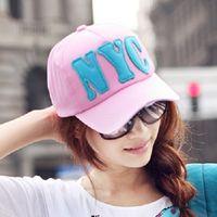Wholesale south korea baseball hat for sale - Group buy South Korea NYC for ladies summer Korean style trendy duck tongue sun baseball cap baseball cap screen sports sun hat