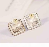 Wholesale design charm sale resale online - Hot sale half round hollow design with leather and diamond for women jewelry gift with empty box PS5665A