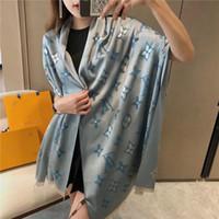 Wholesale womens scarves resale online - High Quantity New Womens Days silk cotton four seasons long Designer Shawl luxury scarves lLV Scarf l