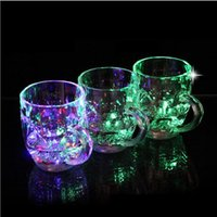 Wholesale glasses for disco resale online - Liquid Activated Color Change Mug Automatic Light Up Cup Flashing Cup Led Glass for Night Club Birthday Disco ZA6087