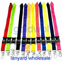 Wholesale keychain lanyards for sale - Group buy CellPhone Lanyard Straps Clothing brand Keychain Lanyards Phone Keys MP3 Camera ID Badge Holder Detachable Buckle