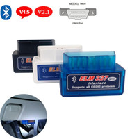 Wholesale scanner obdii resale online - V1 OBD2 V2 OBD2 Scanner for Wrangler Grand Torque ELM327 OBDII Scanner Bluetooth Car Diagnostic Tool