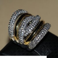 Wholesale 14kt gold jewelry rings resale online - Victoria Wieck Full Tiny Stones Women s Fashion jewelry kt white gold gold filled Zirconia Wedding Engagement Band Rings gift Size