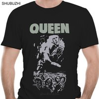 Wholesale news covers online – custom Queen Men Shirt News Of The World th Full Cover Male Brand Teeshirt Men Summer Cotton T Shirt