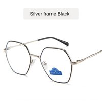 rahmen für tv groihandel-Metal Flat anti-blue fashion polygonal flat glasses Computer TV mobile phone glasses frame with packaging