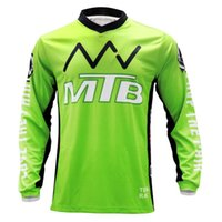 Wholesale long sleeve mx jerseys for sale - Group buy YBM Green MX DH ATV Mountain MTB Jersey Cycling Downhill Bike Shirts Motocross Long Sleeve