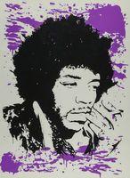 Wholesale purple oil art painting for sale - Group buy Mr Brainwash Graffiti art Jimi Hendrix Purple Home Decor Handpainted HD Print Oil Painting On Canvas Wall Art Canvas Pictures