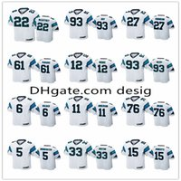 Wholesale mccoy football jerseys resale online - Custom Carolina Panthers McCaffrey Roy Robinson Paradis Moore Mccoy Walker Okung Football jerseys White Christian Game Jersey20