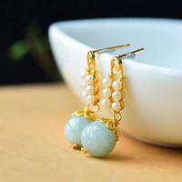 Wholesale myanmar jade for sale - Group buy Natural Myanmar A jade Accessories Crystal earrings jade earrings Valentine s Day gift special crystal accessories