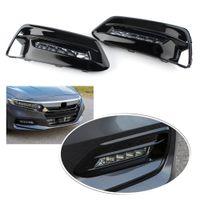Wholesale honda accord led lights for sale - Group buy For Honda Accord Front Bumper LED Fog Light Car Set Assembly DRL
