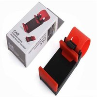 Wholesale iphone steering for sale – best Car Steering Wheel Phone Socket Holder Smart Clip Car Bike Mount For Iphone Plus S5 Easy Use Gps With Retail Package