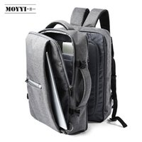 compartimentos de laptop mochilas venda por atacado-Novo- Business Travel Duplo Compartimento Mochilas Multi-Layer com saco Digital único para 15,6 polegadas Laptop Mens Backpack Bags