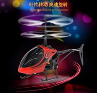 Wholesale remote control helicopters for sale - Group buy Mini RC Drone Helicopter Infraed Induction Channel Electronic Funny Suspension Remote Control Aircraft Quadcopter Drone Kids Boy Toys