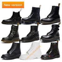 Wholesale black shoes men resale online - 2020 New Man Boots Wincox Rainbow Bradfield Blake Black White Eur Martin Women Boots Platform Shoes Martin Platform Boots