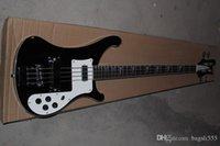 Wholesale black electric guitar for sale for sale - Group buy 2020 new arrival black custom electric bass guitar with double cable jack inputs SALE