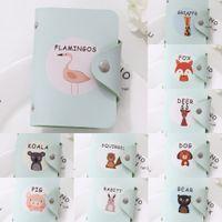 Wholesale cute gift card holders resale online - New hipster PU leather cute printed cartoon cartoon fashion card bag creative card bag gift