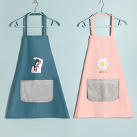 cor aventais venda por atacado-Multi Color Fashion Apron Solid Color Big Pocket Family Cook Cooking Home Baking Cleaning Tools Bib Baking Art Apron