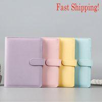 A6 Colorful Creative Macarons Binders Notebook Shell Loose-leaf Notepad Spiral Binder Inside Page Glitter Transparent Storage Bag