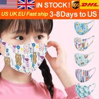 Wholesale Free DHL Washable Children Protection Reusable Masks Children Cartoon Printed Masks Unisex Dust Proof Anti Fog Respirator