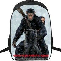 Wholesale photo bag pack resale online - Apes backpack Rise of the planet daypack World popular schoolbag Film print rucksack Satchel school bag Photo day pack