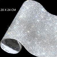 Wholesale sheets case resale online - About Self Adhesive Rhinestone Sticker Sheet Crystal Ribbon with Gum Diamond Sticks for DIY Decorations Car Phone Cases Cups EEA1968