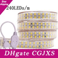 Wholesale clear wire led lights for sale - Group buy Led Strip Light leds Double Row v v Smd Flexible Tape Crystal Clear Pvc Tubing For Durable Use And Brighte Power