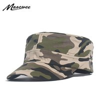 Wholesale military peak hat resale online - Outdoor Men Hunting Cap Snapback Stripe Caps Casquette Camouflage Hat Military Army Tactical Peaked Sports Camping Hiking Sunhat