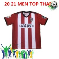 Wholesale camiseta futbol thai for sale - Group buy 2021 top thai Logronius home red men football uniform jersey soccer spainish Segunda T shirt Camiseta de Futbol Mailot de Foot