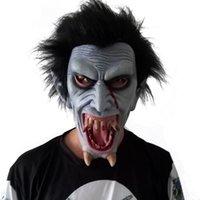 Wholesale horror demon mask resale online - Scary Evil Mask Halloween Horror Vampire Mask Demon vampires werewolves Zombie