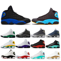 Wholesale 13 women basketball resale online - Discount Hyper Royal Playground Flint Men Basketball Shoes Bred Chicago Island Lucky Green s DMP Women Mens Trainers sports Sneakers