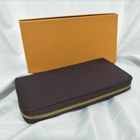 Wholesale mens leather cell phone wallet resale online - Men Classic Purse Most Fashionable Long Zipper Wallet Cards And Coins Mens Wallets Leather Purse Card Holder Purse Women Wallet