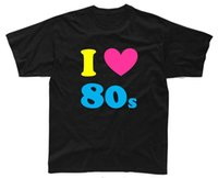 Wholesale love costume men for sale - Group buy Fashion I Love The S Mens T Shirt S Xl Black Costume Neon S Men Cotton Tees Streetwear Harajuku casual men s T shirt