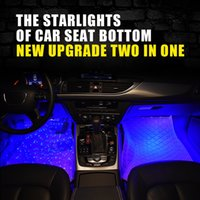 Wholesale car foot led for sale - Group buy Led Car Interior Foot Ambient Mood Light Backlight With Usb Rgb Remote Control Decorative Starry Star Lamp Auto Lighting New