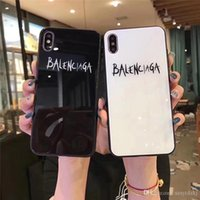 Wholesale cell phone glasses case resale online - Tempered Glass Mirror Cell Phone Case For iPhone pro Max X XS XR XSMAX NEW fashion Cover For iPhone S Plus