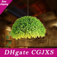 Wholesale green vegetable for sale - Group buy Nordic Creative Lamps Personality Green Plants Pendant Light Dining Room Bar Hanging Light Fruits Vegetables Shop Decorative Pendant Lamps
