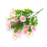 Wholesale asters flowers resale online - Simulation Aster Daisy Flower Silk Cloth Plastic Fake Plant Wedding Home Decoration Artificial Flowers Flower Bouquet New Year