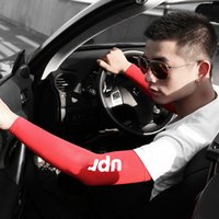 Wholesale uv protection driving gloves for sale - Group buy Outdoor driving summer sunscreen sleeves for driving cool ice silk arm warmers elastic long gloves Long Gloves Sun UV Protection Arm