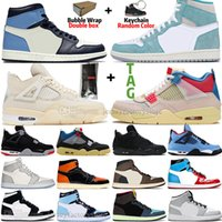 Sail Bred 4 4s Guava Ice Mens Basketball Shoes 1 1s Travis Scotts Obsidian UNC Fearless Toe Black Cat Grey Purple Turbo Green women Sneakers