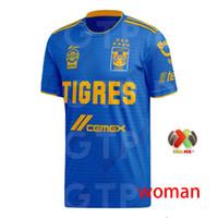 Wholesale club football kits for sale - Group buy woman Men Kids kits Tigres UANL soccer jersey Mexico club Yellow Stars GIGNAC Vargas SOSA away blue third black football shirt