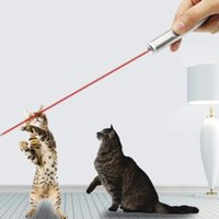 Wholesale led multi functional lights resale online - lNew Arrival Multi functional Mini in1 LED Laser Light Pointer Key Chain Flashlights Torch Light pet cat funny toy