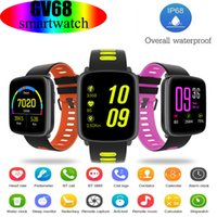 Wholesale top waterproof cameras resale online - Top quality GV68 Smart Watches Wristwatch Support Heart Rate Monito IP68 waterproof Outdoor sport Smart Wristbands Bracelet For IOS iphone