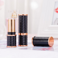 Wholesale injection molding for sale - Group buy DIY Empty Lipstick Tube Black Geometry Injection Molding Plastic Beauty Lip Rouge lip gloss tubes with wand
