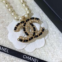 Wholesale black beaded fashion jewelry resale online - Fashion Luxury designer necklace classic black pearls hip hop jewelry women necklace designer necklace for prom chain designer jewelry