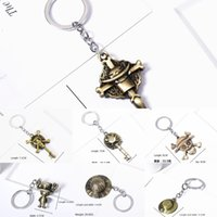 Wholesale one piece skull hat resale online - One Straw hat gift Gift piece pirate Luffy metal key chain straw hat skull key chain anime surrounding exquisite small gifts GGL1T