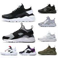 Wholesale pink huaraches for sale - Group buy IV mens running shoes triple black white red silver huaraches men trainers women sports sneakers